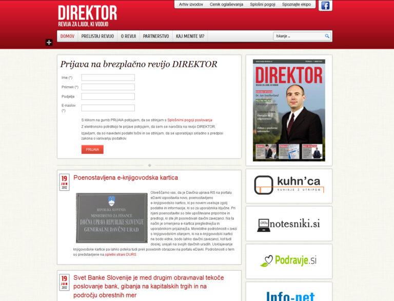 revija direktor spletna