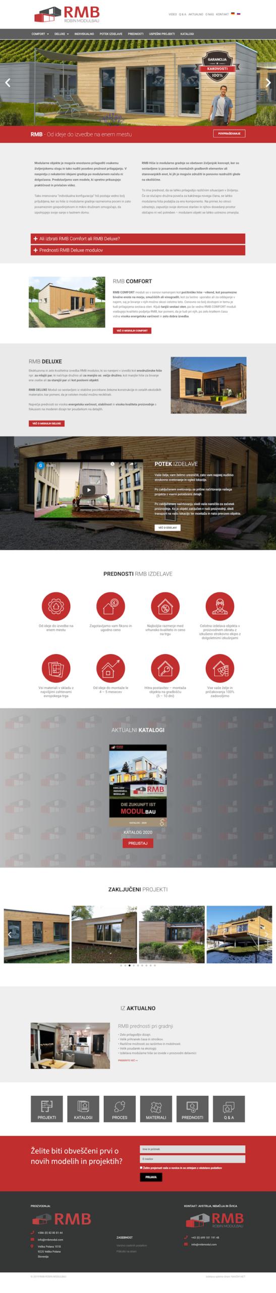 Izdelava spletnih strani RMB Modulbau