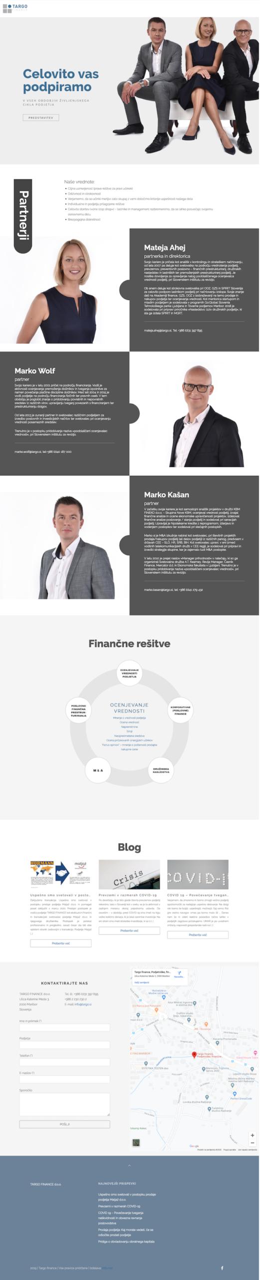 Izdelava spletnih strani Targo finance