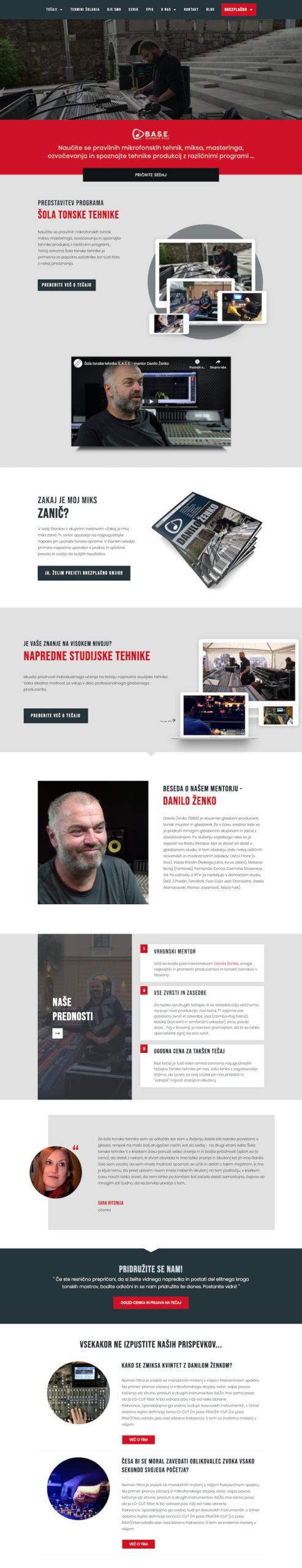 Izdelava spletnih strani Base tonska tehnika