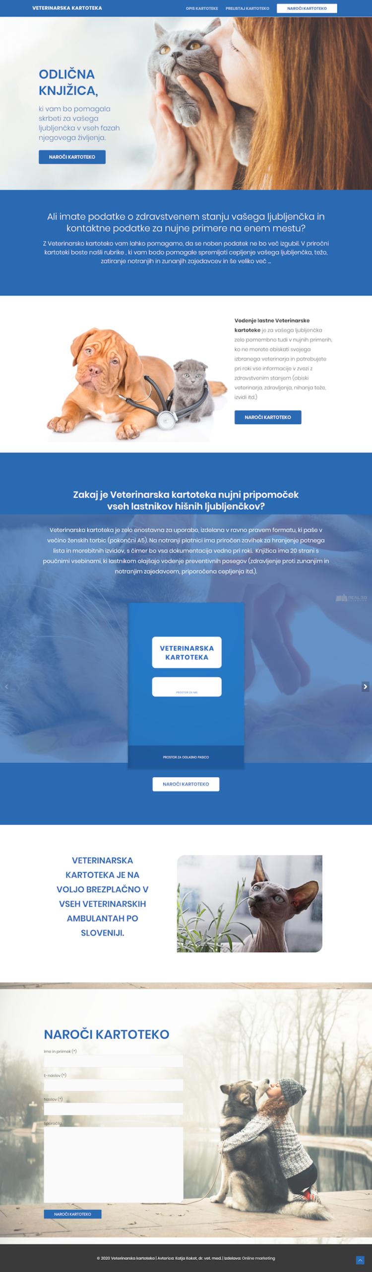 Izdelava spletnih strani Veterinarska kartoteka